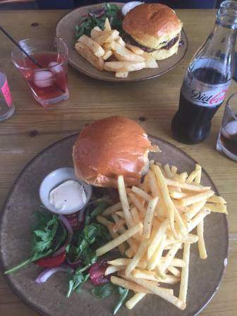 Burgers at The Boatyard