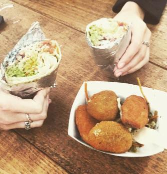 Wylam Brewery Luncha Libre Burritos and Poppers