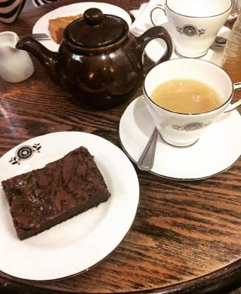 Tea and brownies at Quilliam Brothers' Teahouse