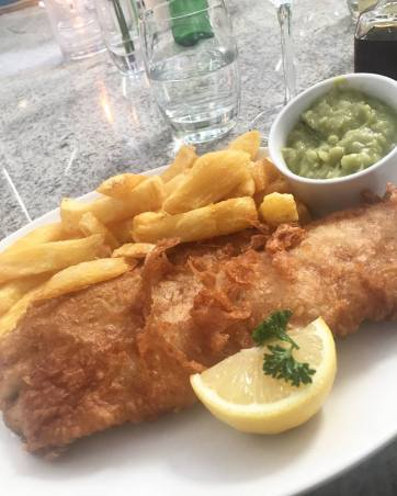 Fish and Chips at Trenchers