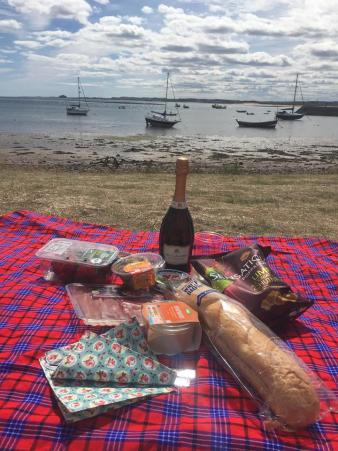 Holy Island Harbour Picnic