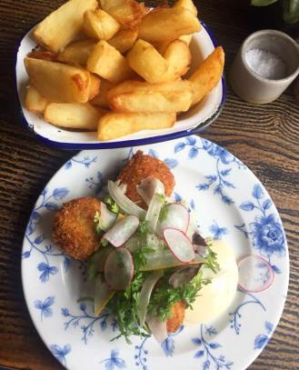 North Sea Fishcakes and Chips