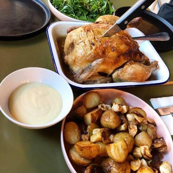 Roast Chicken Sharing Meal